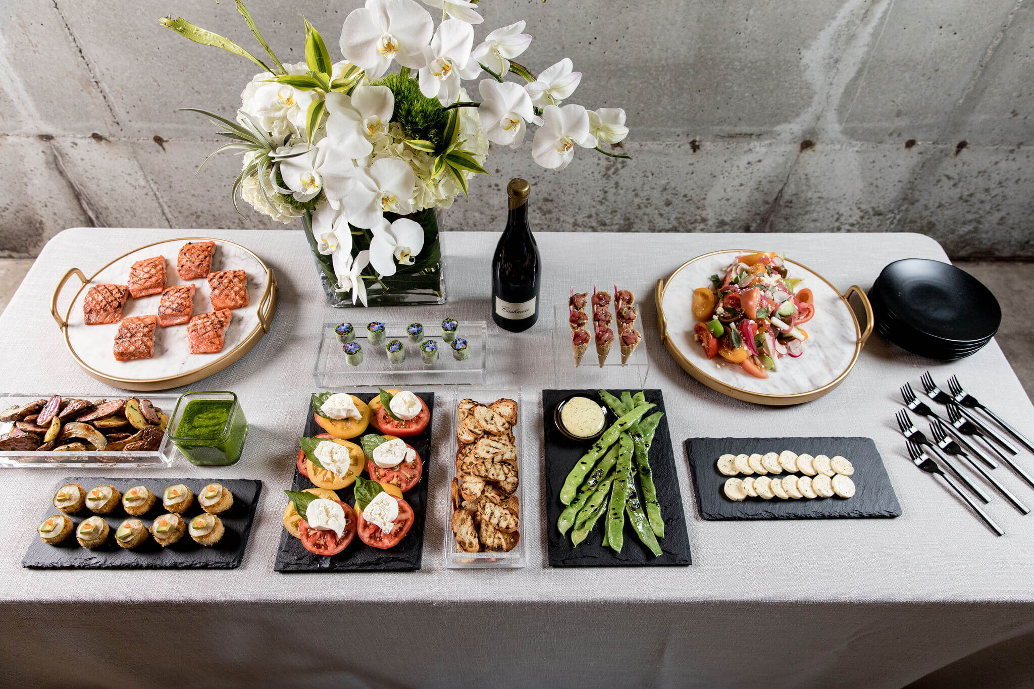 modern buffet floral