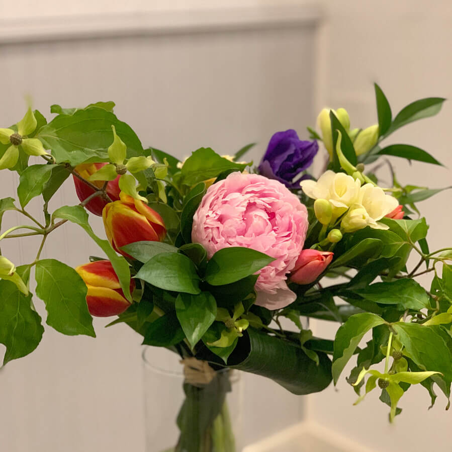 Hand tied weekly seasonal bouquet $50.00