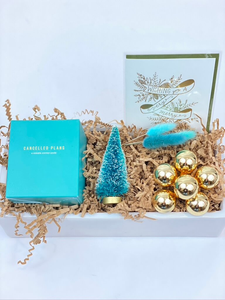 Modern Merry Holiday Gift Crate